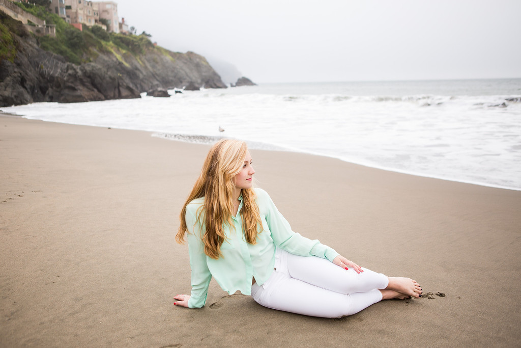 baker beach senior portrait